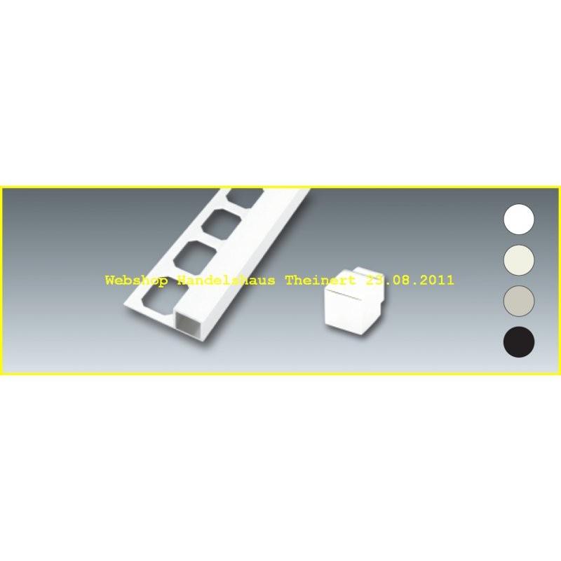 quadro profil kunststoff fliesenschiene 2 5m. Black Bedroom Furniture Sets. Home Design Ideas