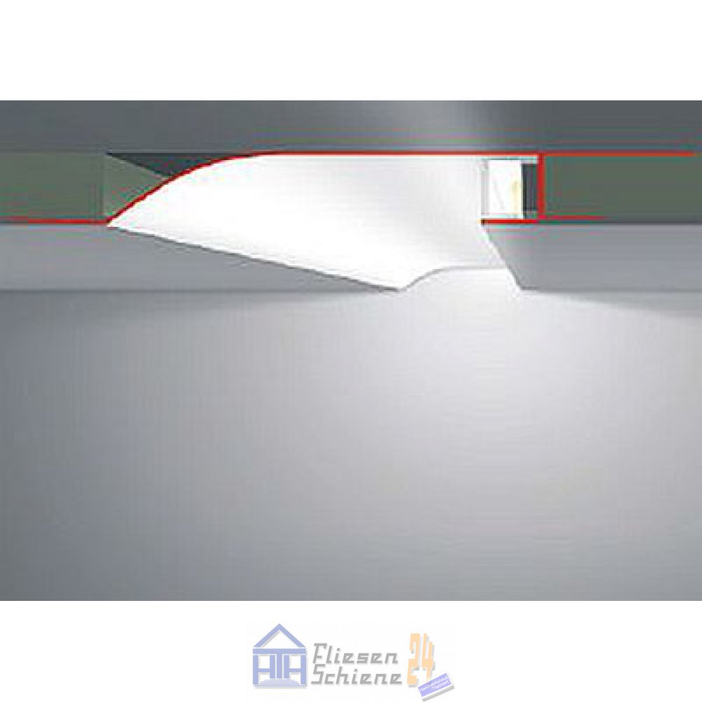 led profil r10f 200cm trockenbauprofil mit reflektor. Black Bedroom Furniture Sets. Home Design Ideas