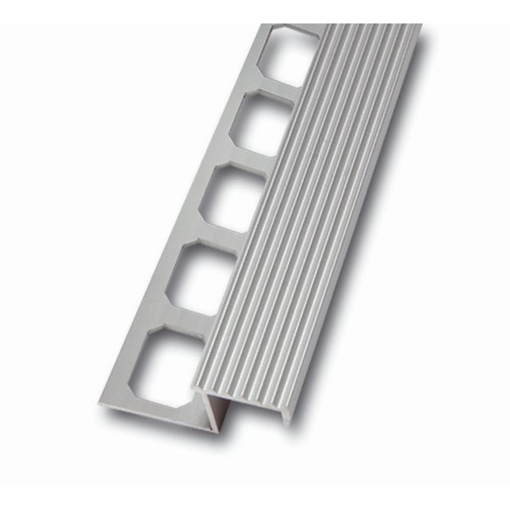 treppenstufenprofil aus aluminium geriffelt sichtbreite 20 mm fliesenschiene24. Black Bedroom Furniture Sets. Home Design Ideas