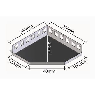 edelstahl eckregal als duschablage diverse eckvarianten fliesensch. Black Bedroom Furniture Sets. Home Design Ideas