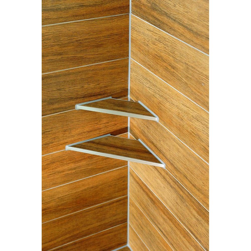duschregal edelstahl befliesbar offene ecke 310x130mm. Black Bedroom Furniture Sets. Home Design Ideas