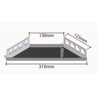 befliesbares edelstahlregal duschablage offene ecke 310x130mm - Duschablage Ecke
