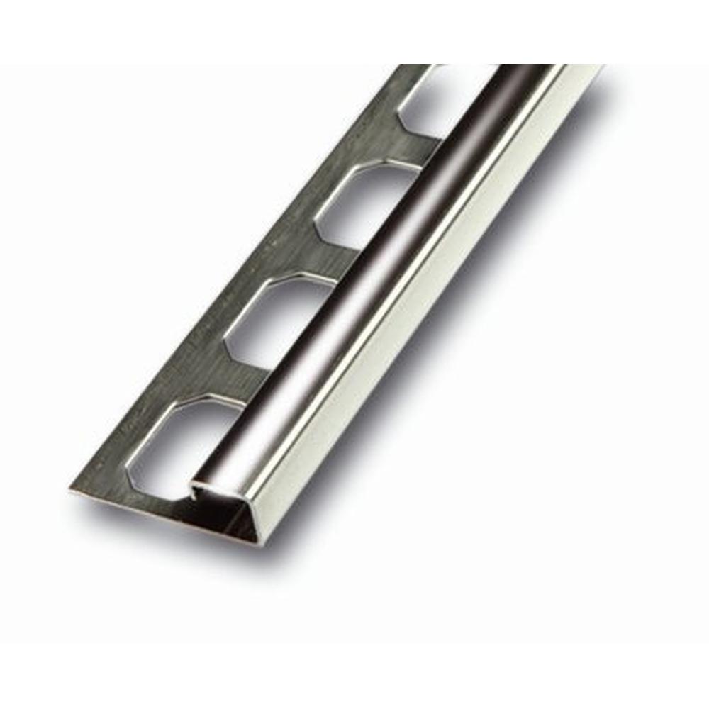 Treppenkantenprofil Fliesen: Fliesenschiene Quadroprofil Edelstahl Glänzend 250cm