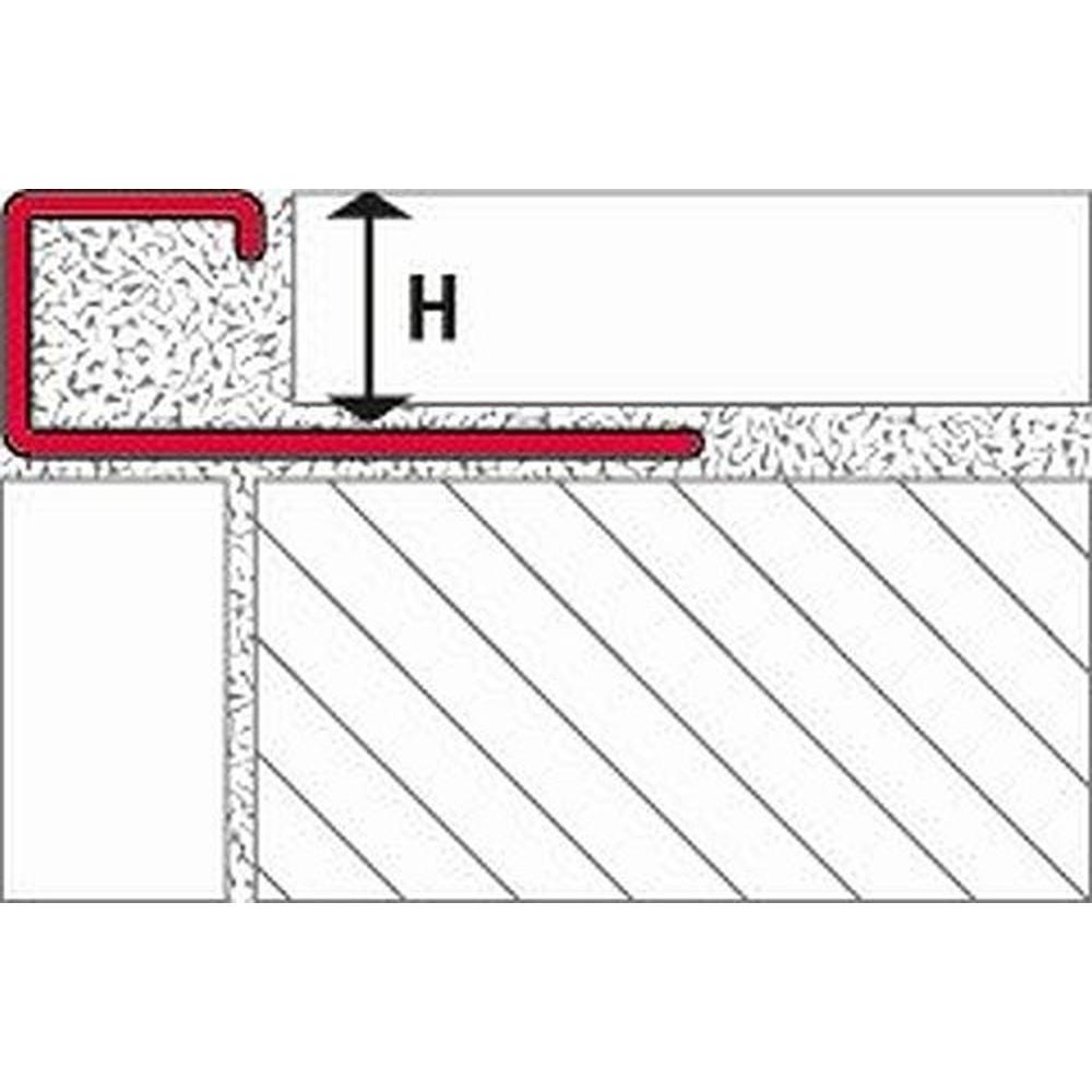 250cm//10mm Edelstahl gebürstet Fliesenschiene Quadratprofil