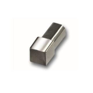 250cm//9mm Edelstahl glänzend Fliesenschienen-Set  Winkelprofil