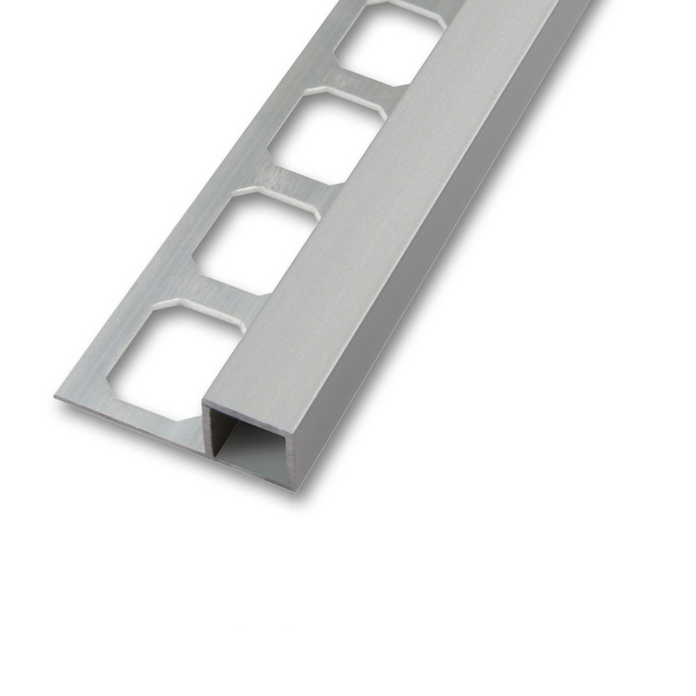 quadroprofil aluminium silber eloxiert matt 2 5m 11mm. Black Bedroom Furniture Sets. Home Design Ideas
