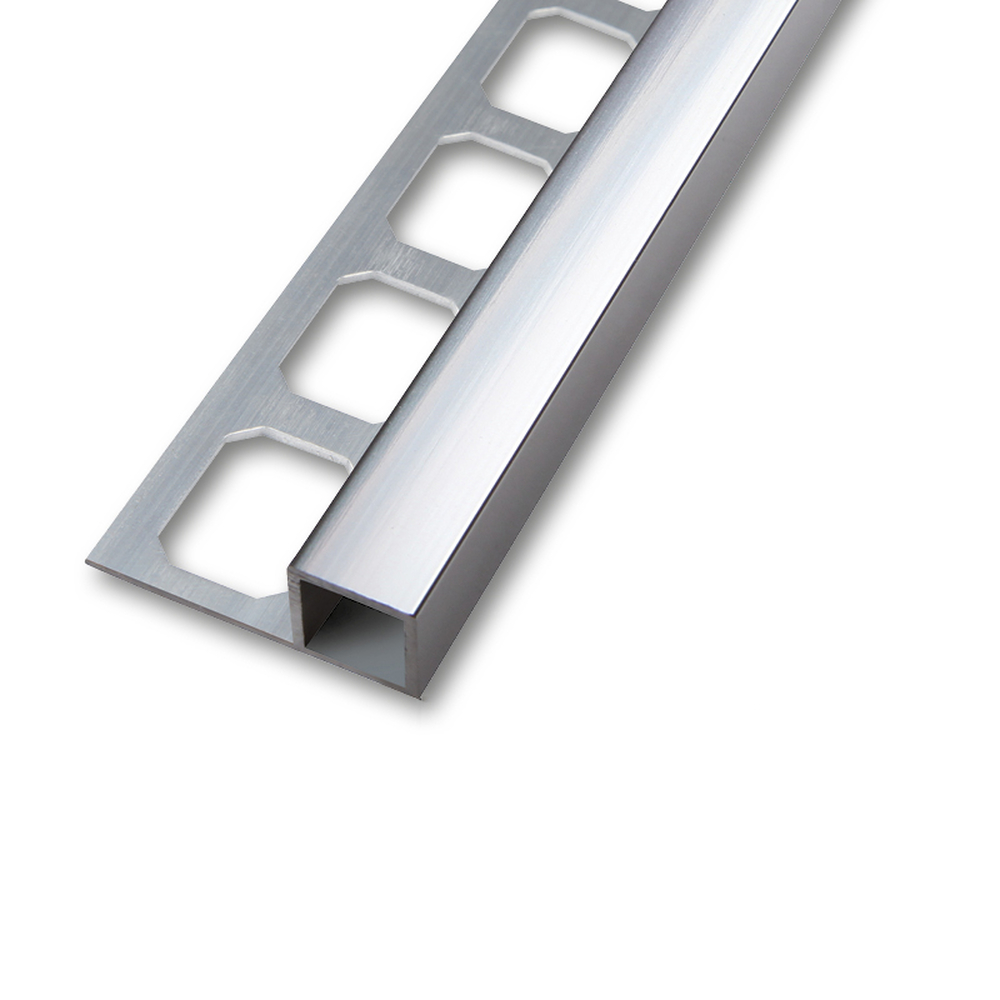 quadroprofil aluminium silber eloxiert gl nzend 2 5m. Black Bedroom Furniture Sets. Home Design Ideas