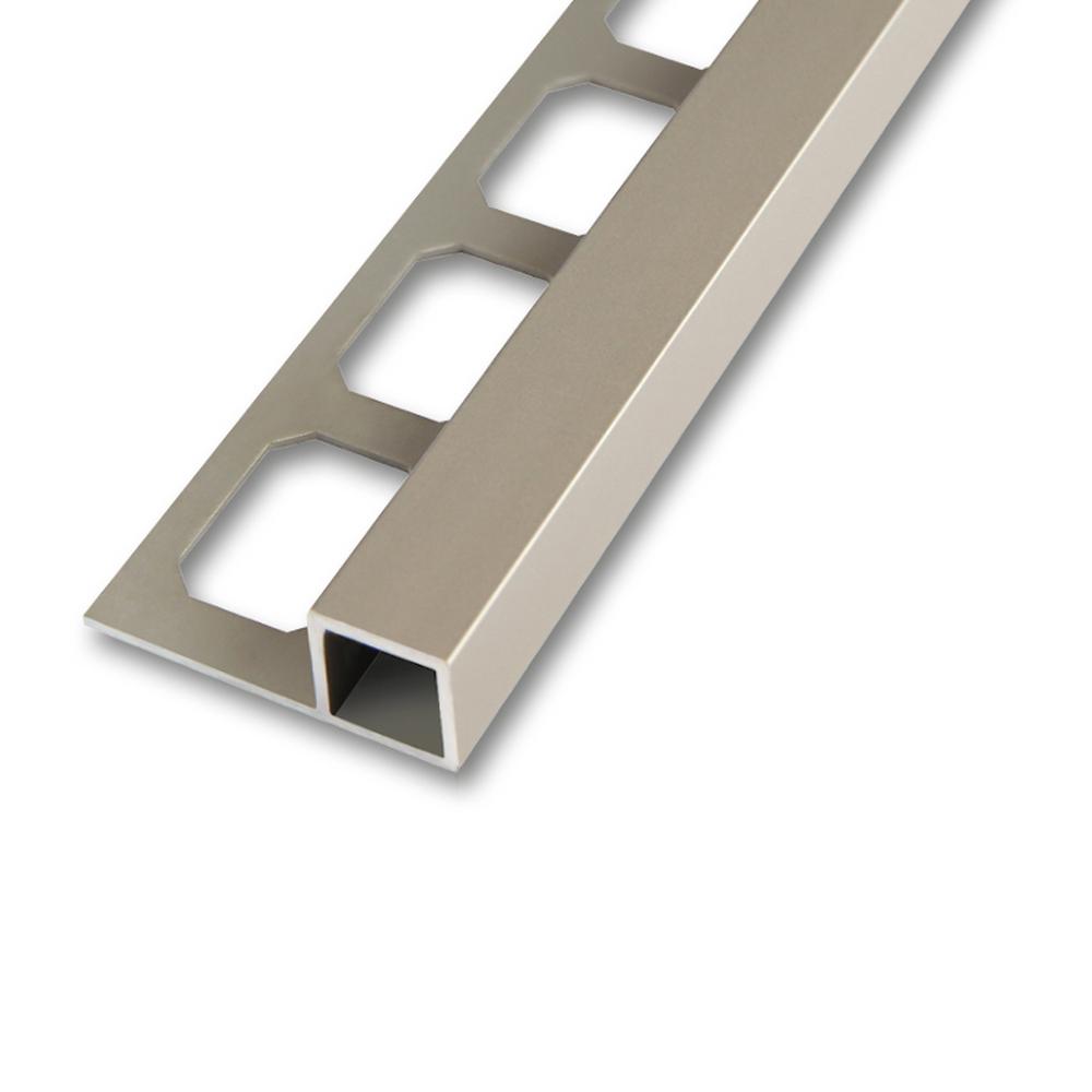 quadroprofile aluminium titan eloxiert matt 2 5m. Black Bedroom Furniture Sets. Home Design Ideas