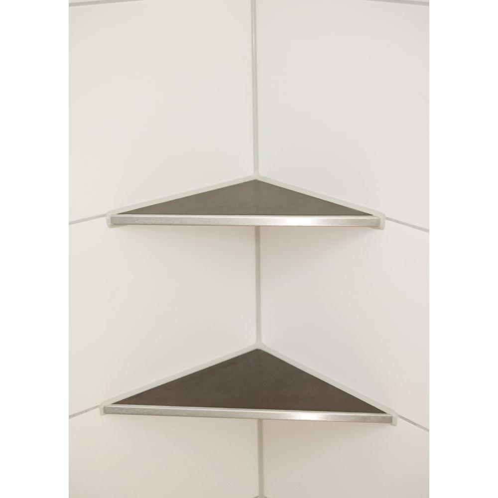 duschablage edelstahl befliesbar zum nachr sten dreieckig. Black Bedroom Furniture Sets. Home Design Ideas
