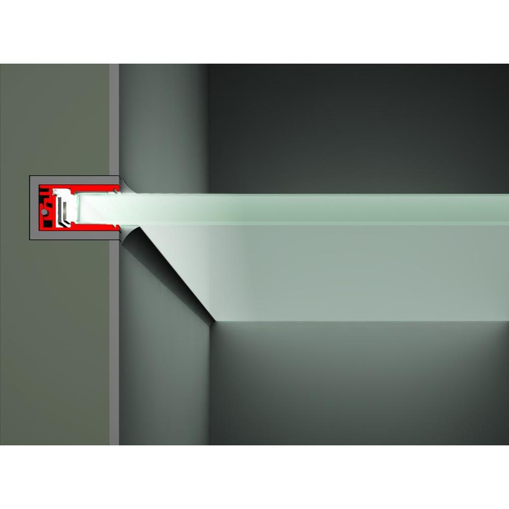 led u profil f r glasscheiben 200cm. Black Bedroom Furniture Sets. Home Design Ideas