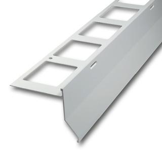 balkonabdeckprofile mit tropfkante alu grau 300cm. Black Bedroom Furniture Sets. Home Design Ideas